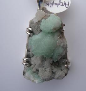 Green Apophyllite Pendant-0