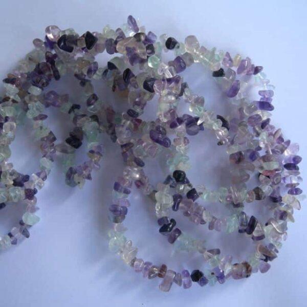 Fluorite Chip Bead Necklace-0