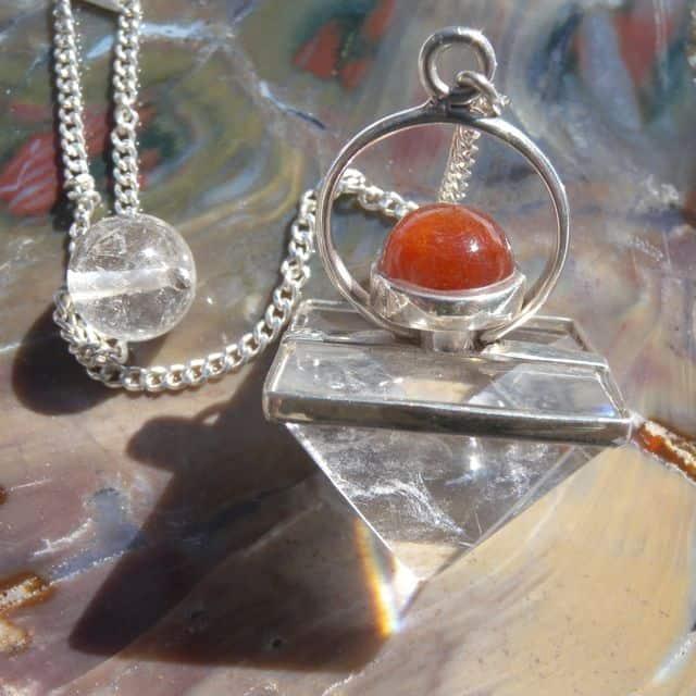 Quartz & Sunstone Pendulum-0