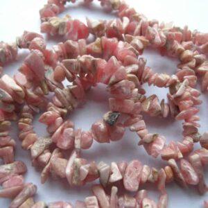 Rhodochrosite Chip Necklace