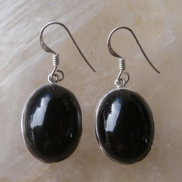 Black Onyx Earrings front