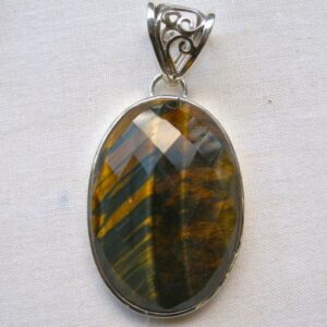 Blue Tiger Eye Pendant-0