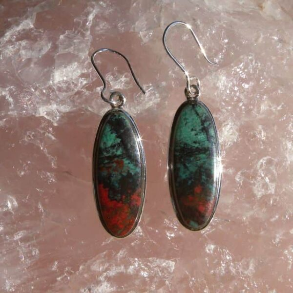 Chrysocolla & Cuprite Earrings