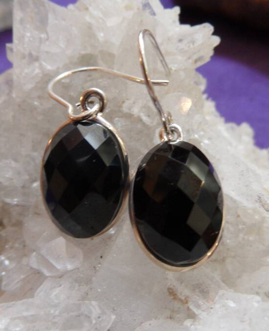 Black Onyx Earrings front