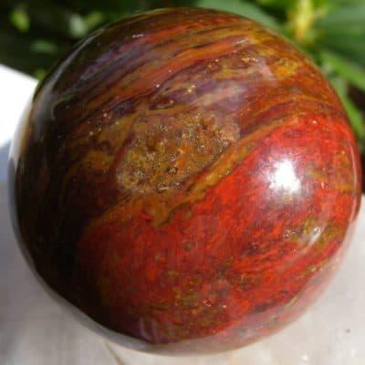 Red Brown Jasper Sphere-0