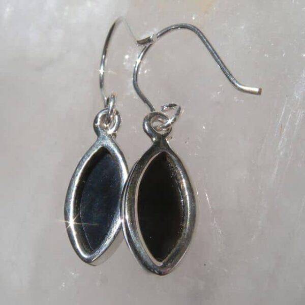 Black Onyx Earrings back