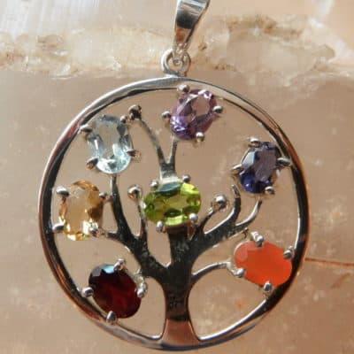 Tree of Life Chakra Pendant-0