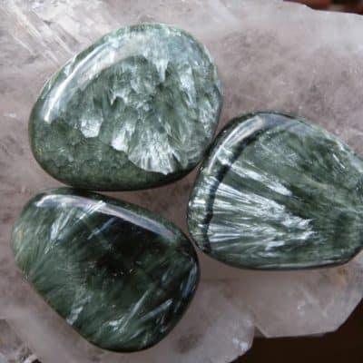 Seraphinite Flat Stone