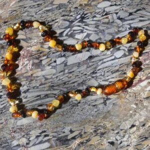 Multi Colour Amber Theething Necklace-0