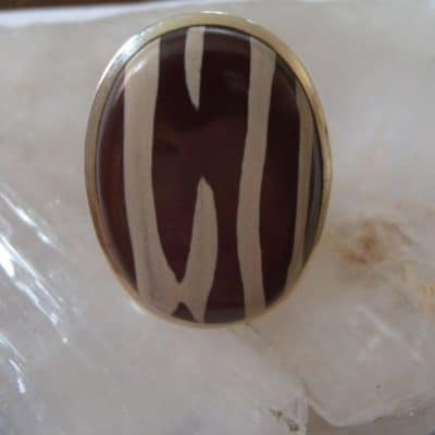 Zebra Stone Ring front