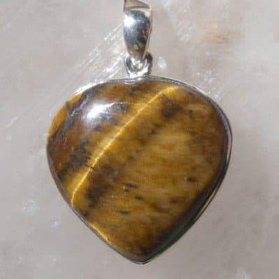 Tiger Eye Heart Pendant