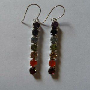 Chakra Drop Earrings-0