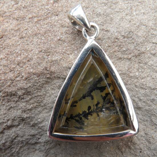 Dendritic Quartz Triangular Pendant-1421