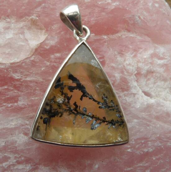 Dendritic Quartz Triangular Pendant-1422