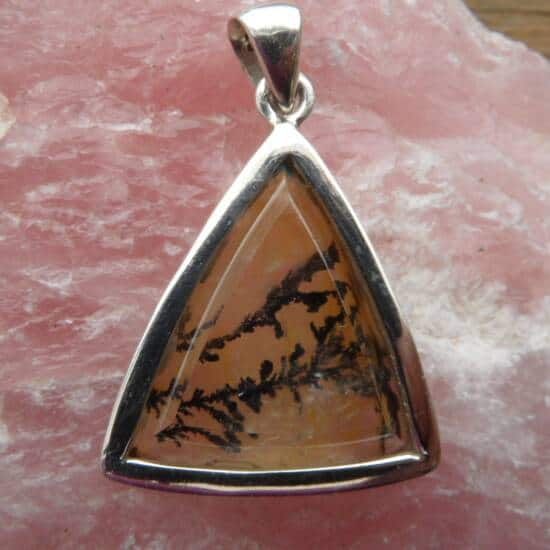 Dendritic Quartz Triangular Pendant-1420