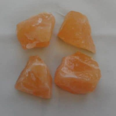 Orange Calcite Chunks-0