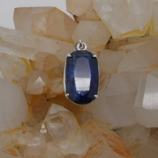 Kyanite Faceted Pendant-0