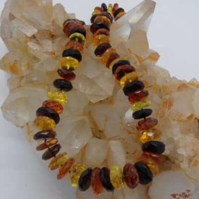 Amber Faceted Necklace-0