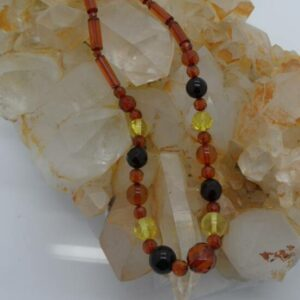 Rod and Bead Amber Necklace-0