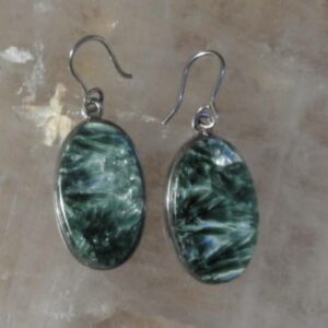 Seraphinite Hook Earrings