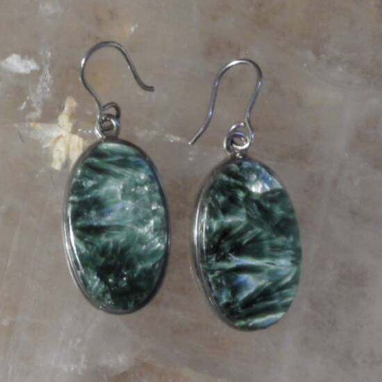Seraphinite Hook Earrings