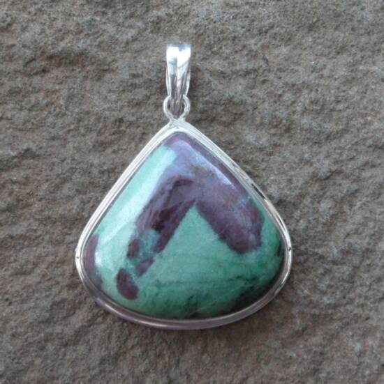 Ruby and Zoisite Pendant