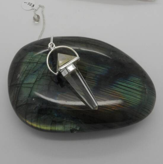 Clear Quartz Pendulum-0