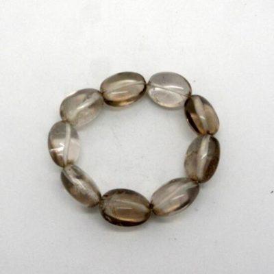 Smokey Quartz Bead Bracelet-0