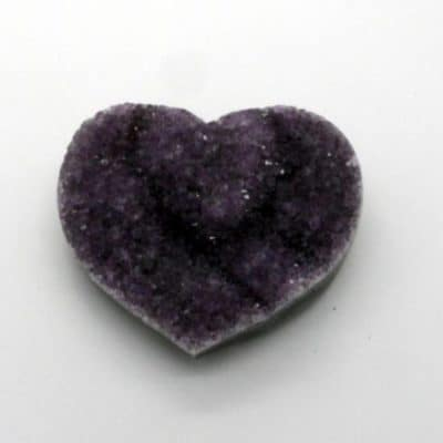 Amethyst Cluster Heart front view