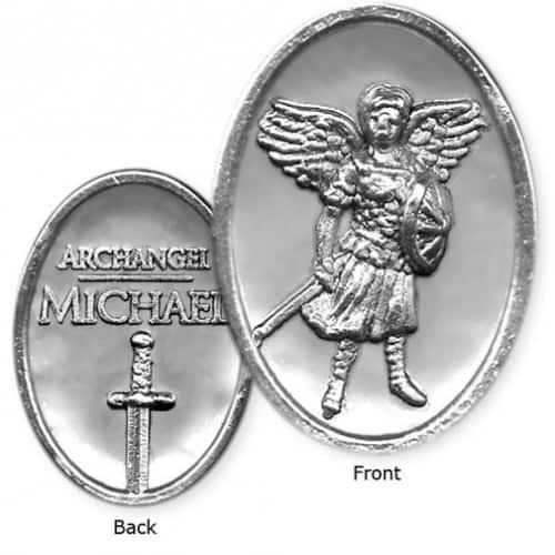 Archangel Michael Token - Oval Shape