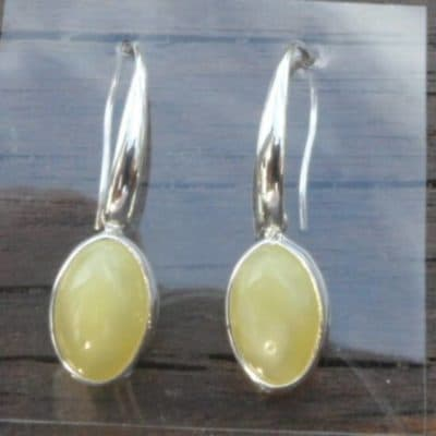 Butterscotch Amber Drop Earrings-0