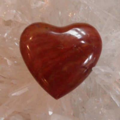 Red Jasper Heart