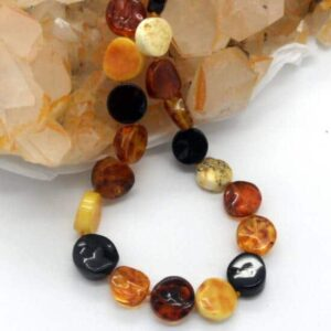 Baltic Amber Flat Disk Necklace