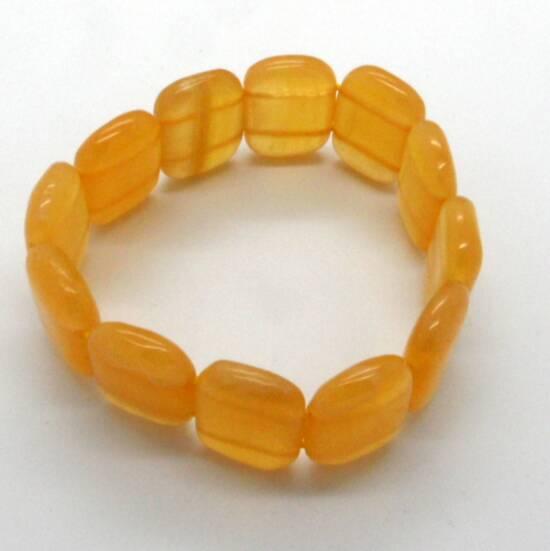 Orange Calcite Bead Bracelet