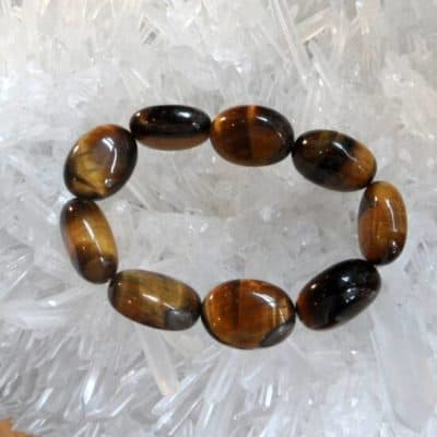 Tiger Eye Chunky Bead Bracelet