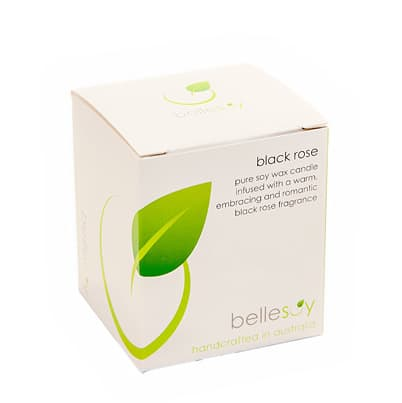 Bellesoy pure soy wax candle black rose