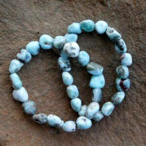Larimar Bead Bracelets