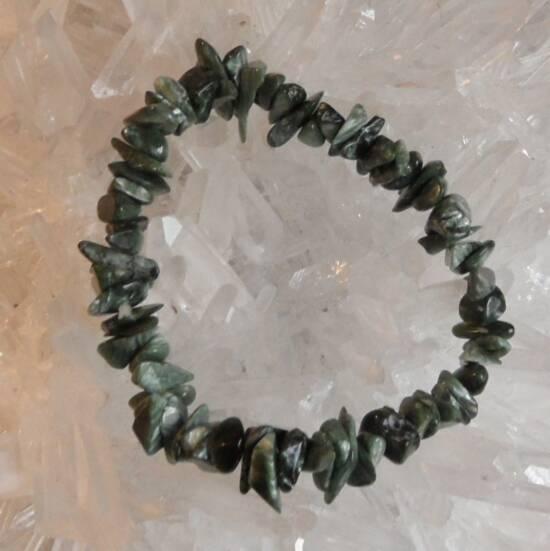 Seraphinite Chip Bracelet