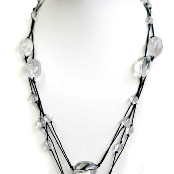 Quartz Nugget Necklace on String