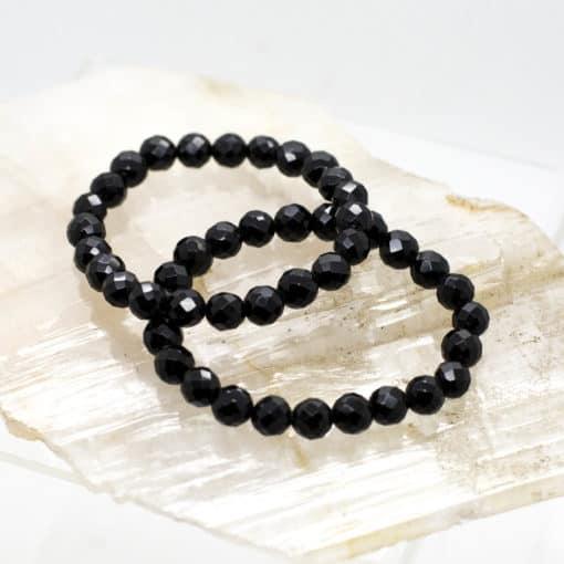 Black Onyx Faceted Bracelet