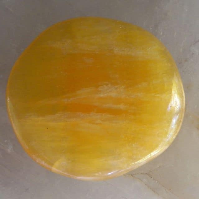 Gold Calcite Flat Stone