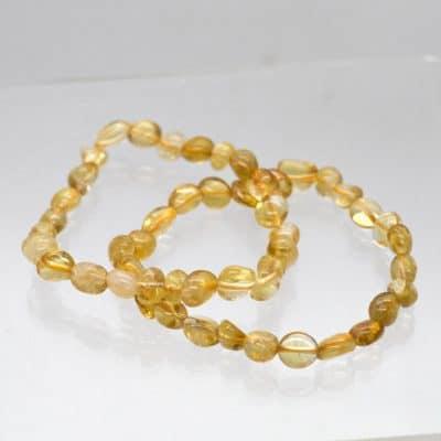 Citrine Tumbled Bracelet