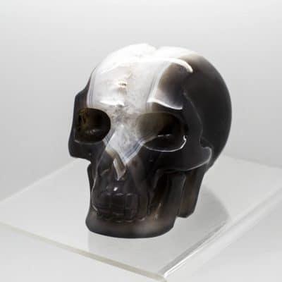 Agate Quartz Skull 2138