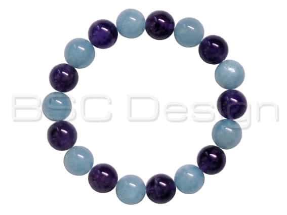 Aquamarine & Amethyst Bracelet
