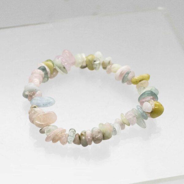 Aquamarine & Morganite Chip Bracelet