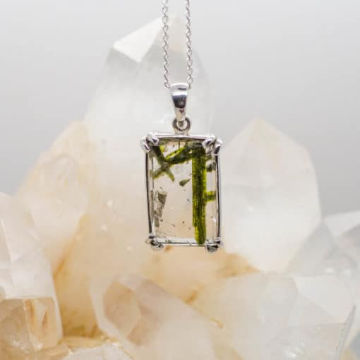 Quartz and Epidot pendant
