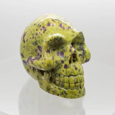 Serpentine and Stichtite Skull side 3