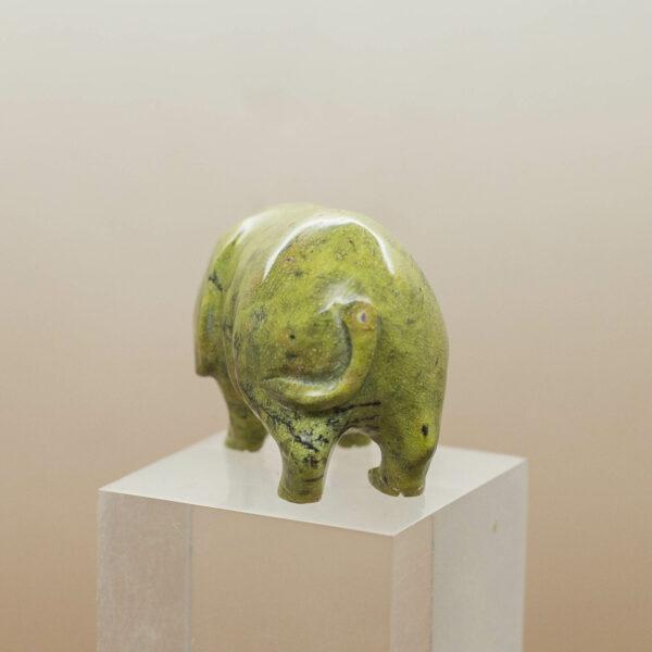 Atlantisite Serpentine Stichtite Pig back