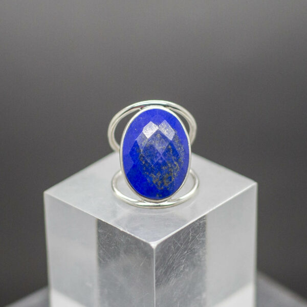 Lapis Ring Faceted