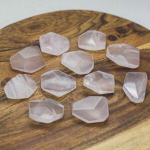 Rose Quartz Faceted Stone (3)